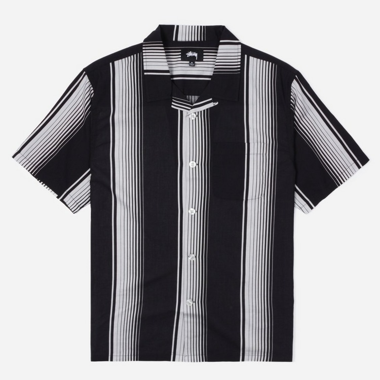 Stussy Jacquard Striped Short Sleeve Shirt