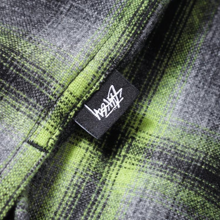 Stussy Gunn Plaid Zip Up Shirt