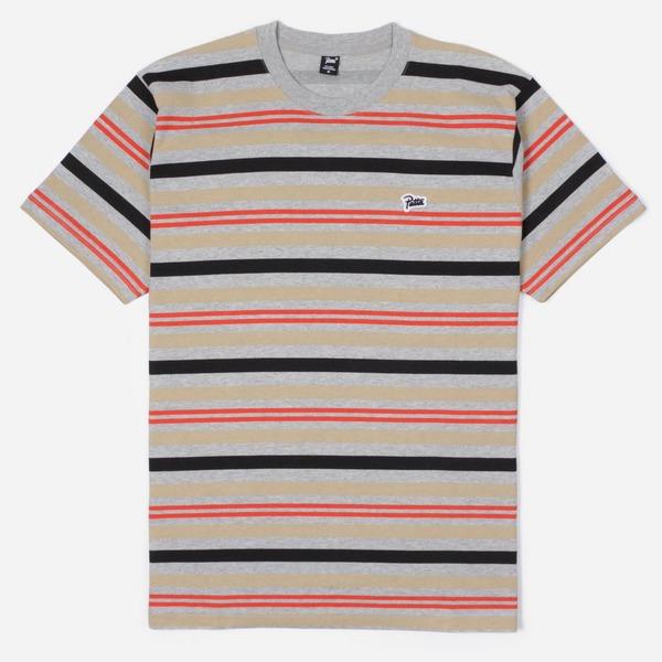 Patta Double Stripe Short Sleeve T-Shirt