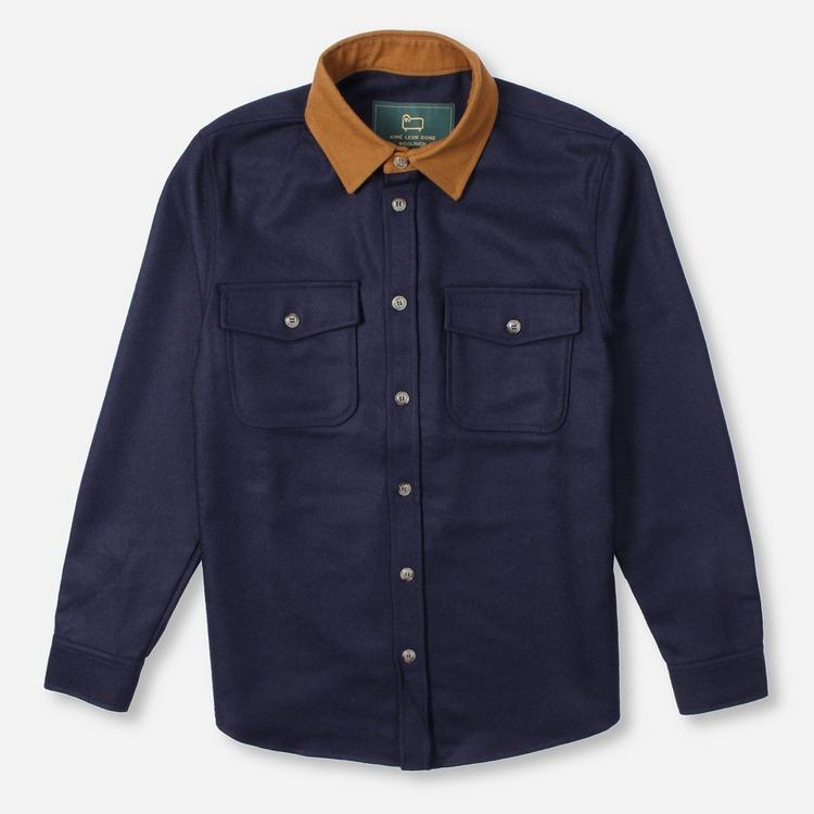 Aime Leon Dore x Woolrich Moleskin Collar Button Up Shirt