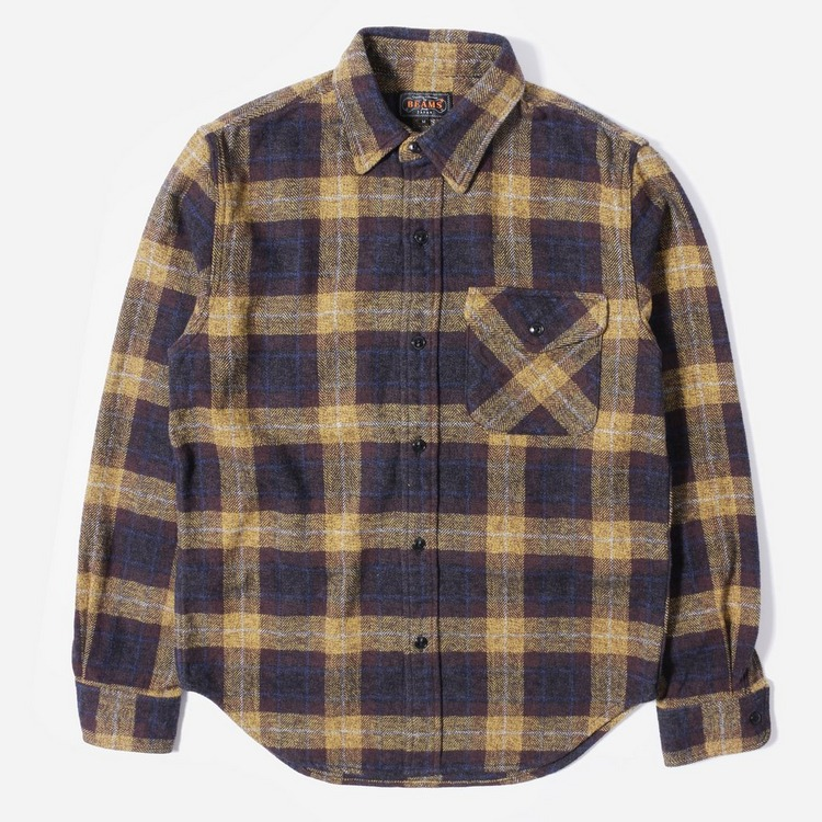 Beams Plus Guide Tweed Check Shirt