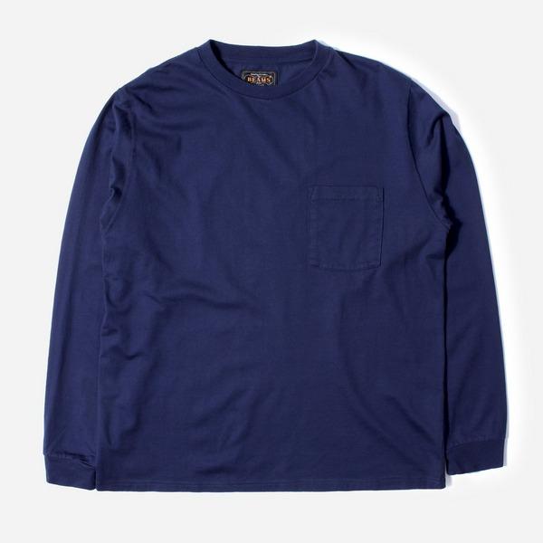 Beams Plus Pocket Long Sleeved T-Shirt