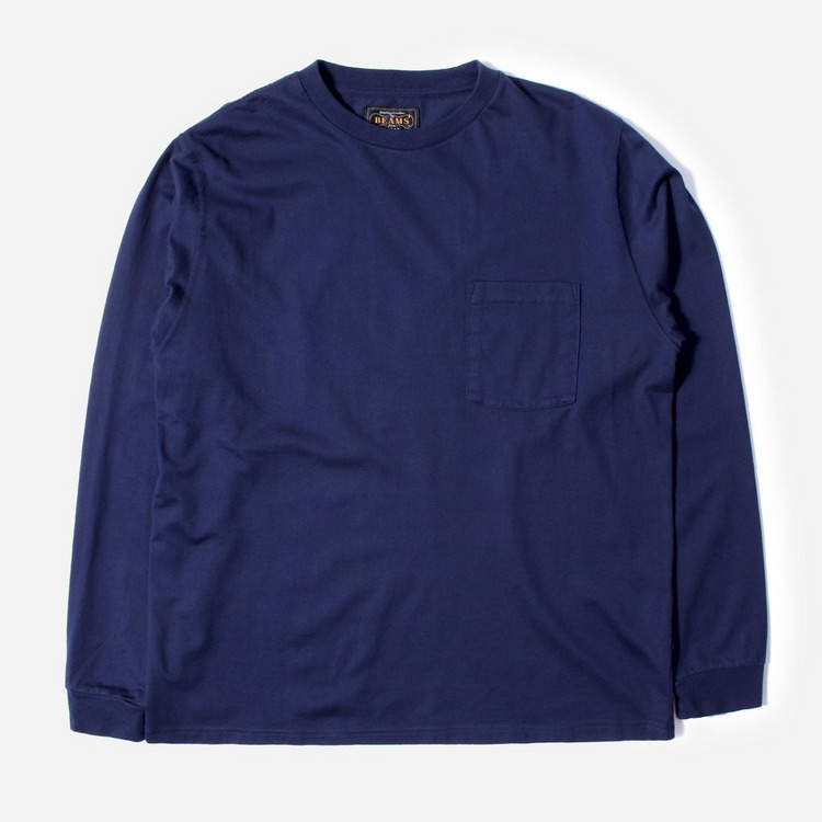 Beams Plus Pocket Long Sleeved T-Shirt