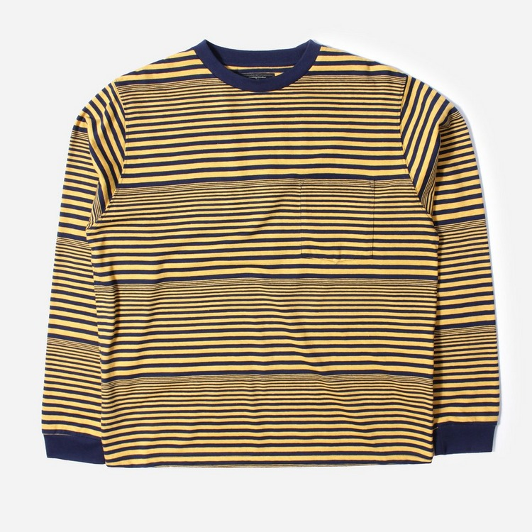 Beams Plus Border Pocket Long Sleeved T-Shirt