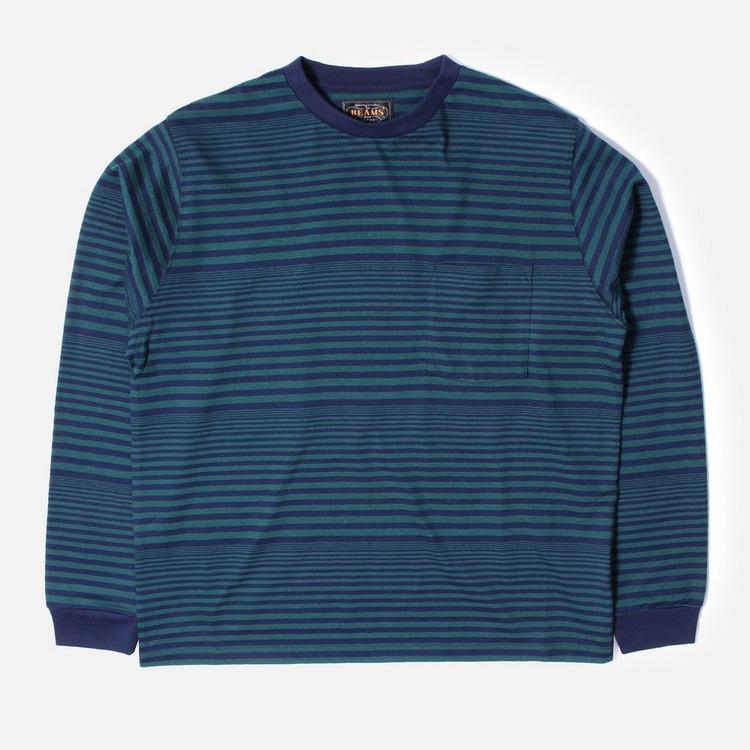 Beams Plus Border Pocket Long Sleeved T-Shirt