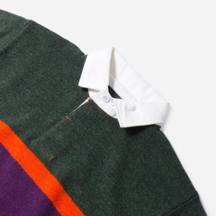 Beams Plus Rugger Knit Polo Shirt