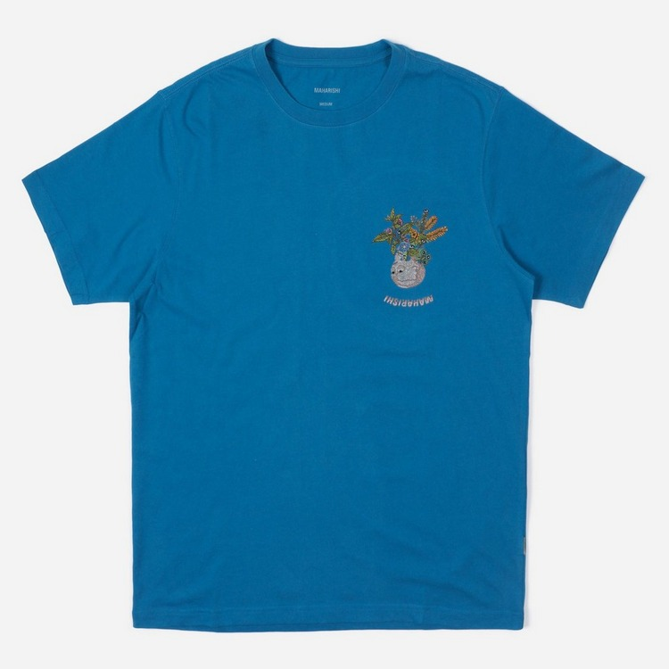 Maharishi Skull Embroidery Chalice T-Shirt