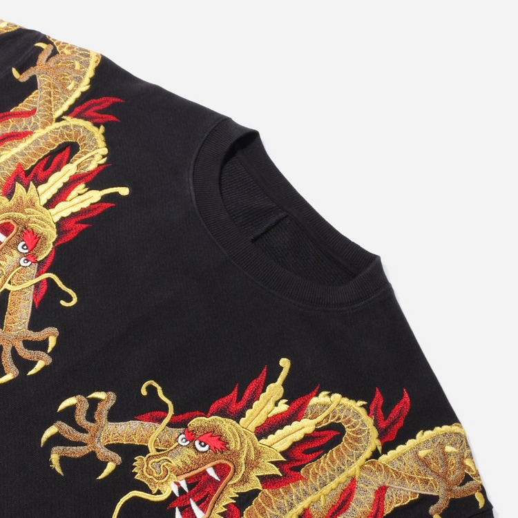 Maharishi Golden Sun Dragon Embroidery Sweatshirt