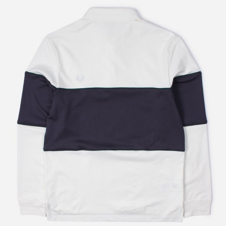 Fred Perry Panelled Long Sleeved Polo Shirt