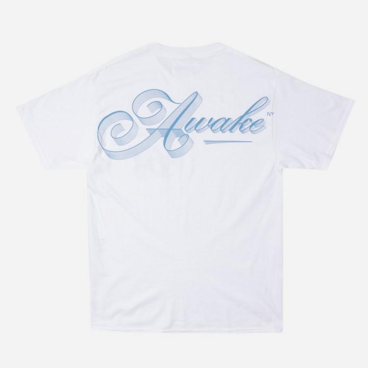 Awake NY Ribbon Script Logo T-Shirt