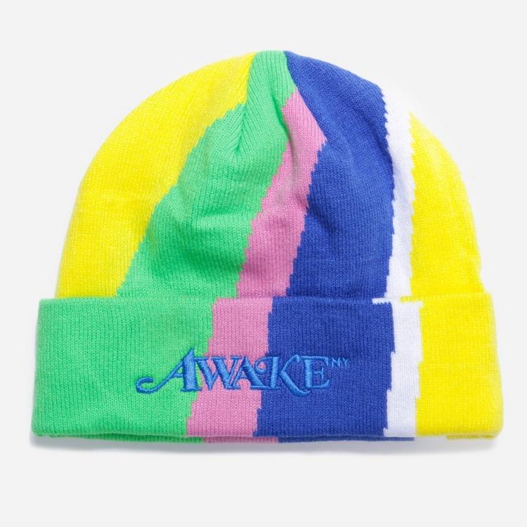 Awake NY Intarsia Knit Logo Beanie