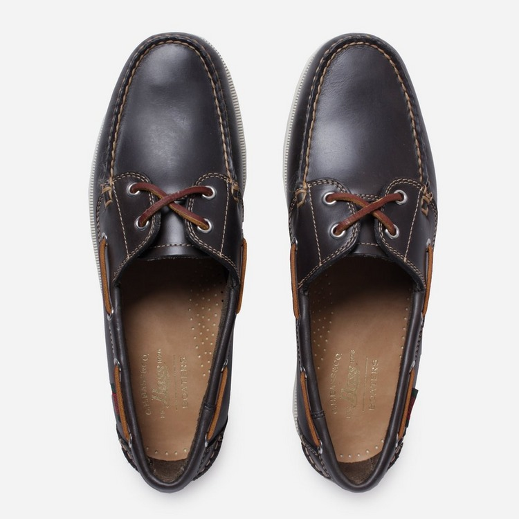G.H. Bass & Co. Leather Jetty Boater