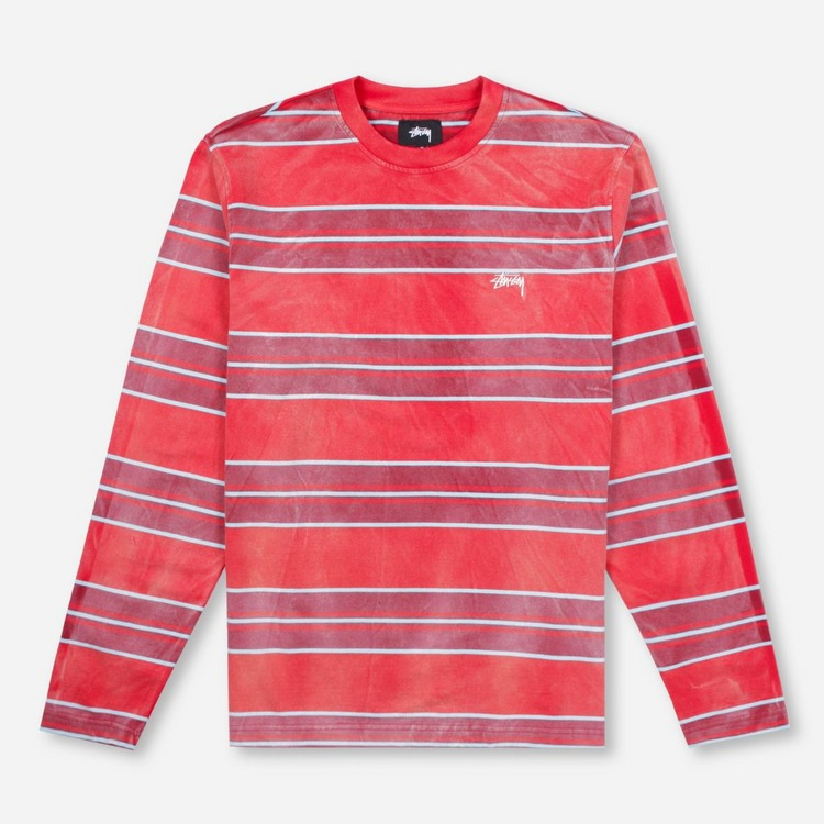 Stussy Bleach Stripe Crewneck