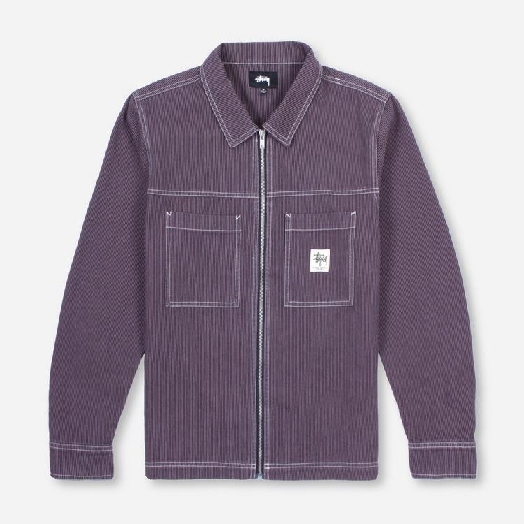 Stussy Overdyed Hickory Zip Shirt