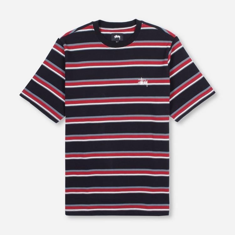 Stussy Harbour Stripe Crew T-Shirt