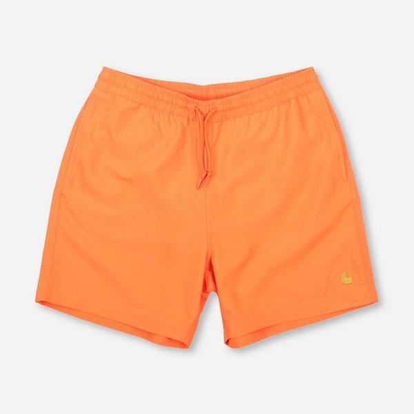 orange-carhartt-wip-chase-swim-short
