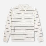 Wood Wood Beck Stripe Long Sleeve Polo Shirt