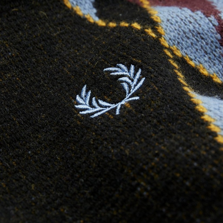 Fred Perry Argyle Zip Neck Jumper