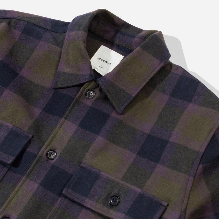 Wood Wood Franco Check Overshirt