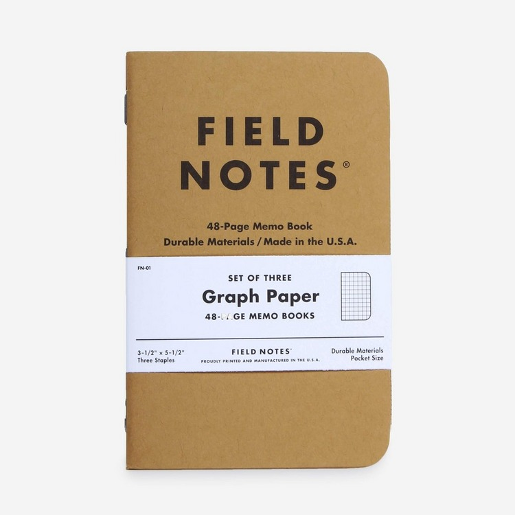 Field Notes Og Graph 3 Pack Memo