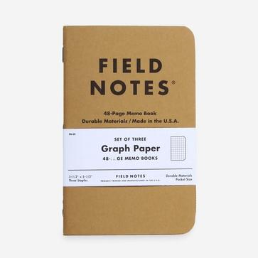 Field Notes Og Graph 3 Pack Memo