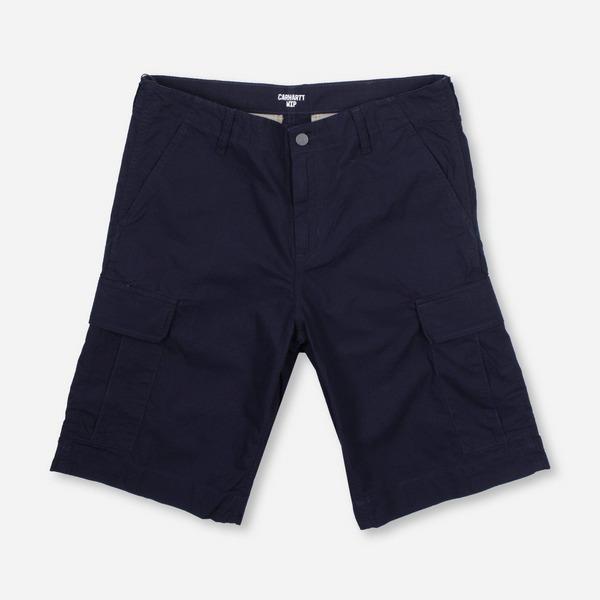 blue-carhartt-wip-regular-cargo-shorts