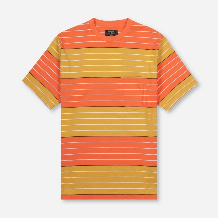Beams Plus Stripe Pocket T-Shirt