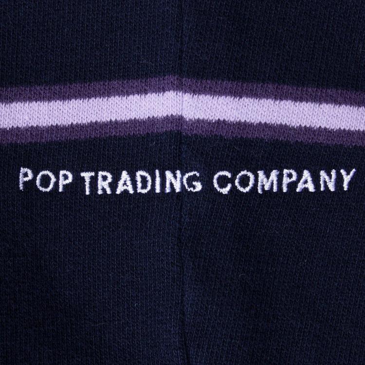 Pop Trading Company Striped Hooded Sweatshirt