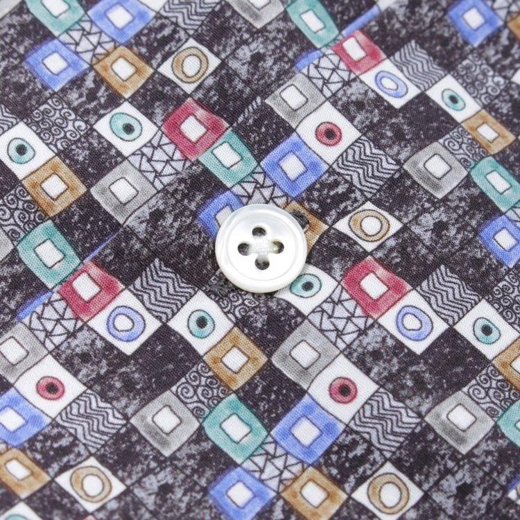Portuguese Flannel Vintage Short Sleeved Tetris Shirt