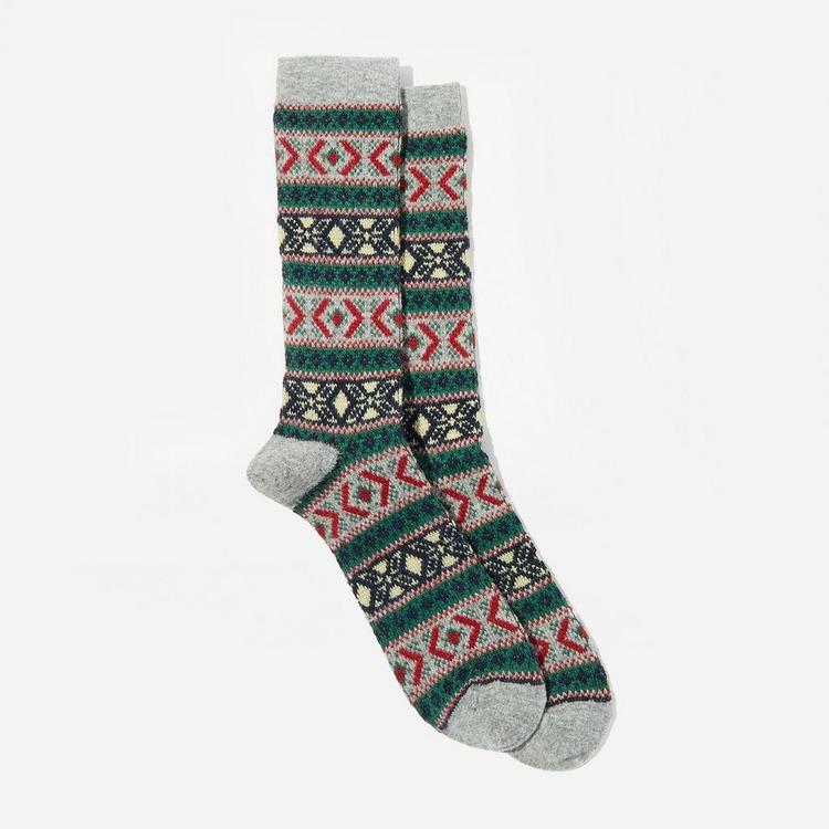 Anonymous Ism Wool Jacquard Crew Socks