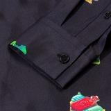 Soulland Joe Silk Shirt With Bowling Collar