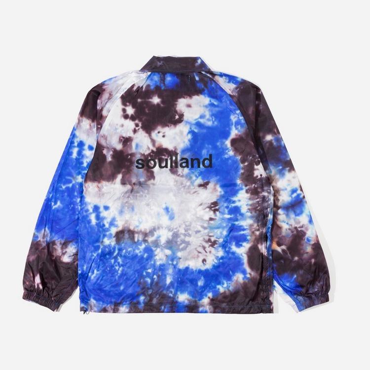 Soulland John Tie Dye Printed Coach Jacket