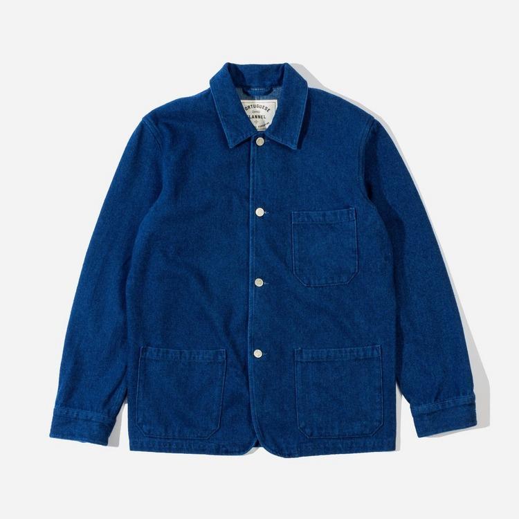 Portuguese Flannel Labura Brushed Denim Chore Jacket