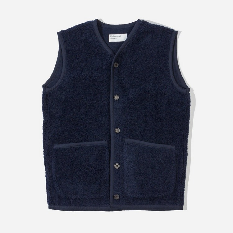 Universal Works Lancaster Fleece Gilet