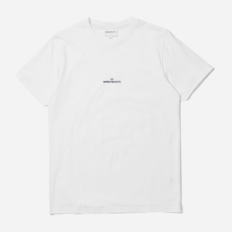 Norse Projects Niels Wave Logo T-Shirt