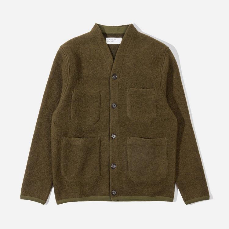 Universal Works Wool Fleece Cardigan