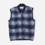 Universal Works Wool Fleece Check Zip Waistcoat