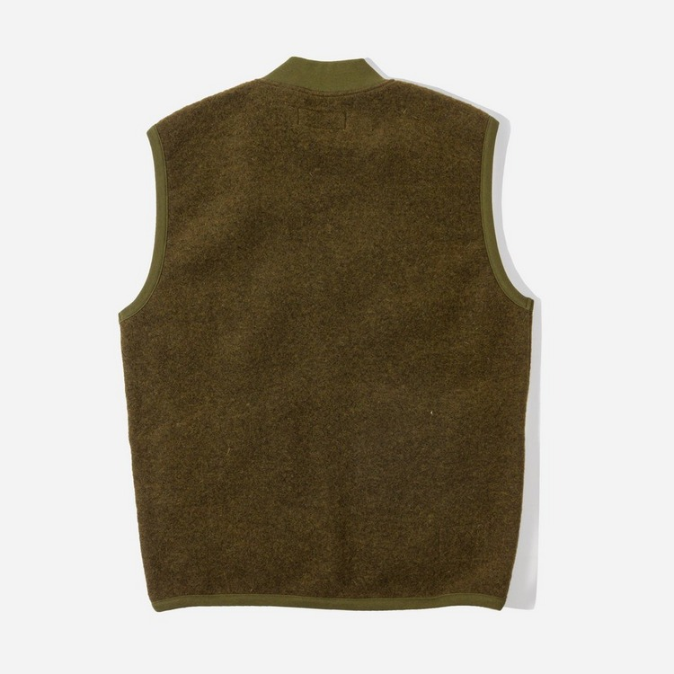Universal Works Wool Fleece Zip Waistcoat