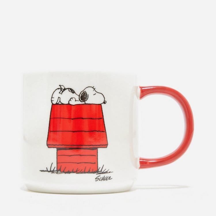 Peanuts Allergic To Mornings Mug