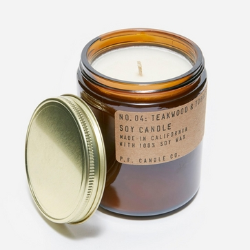 P.F. Candle Co. No.04 Teakwood & Tobacco Soy Candle 7.2oz