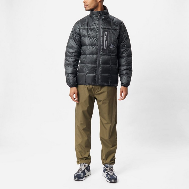 and wander Diamond Stitch Stand Collar Down Jacket