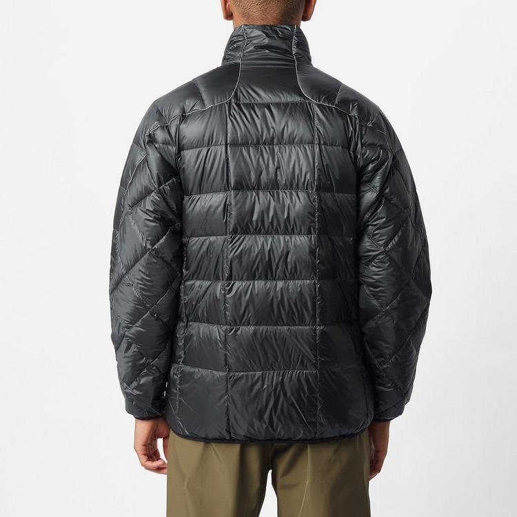 and wander Diamond Stitch Stand Collar Down Jacket