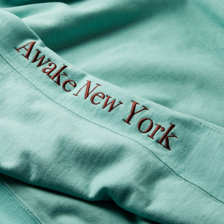 Awake NY Classic Outline Logo Panelled Embroidered Hoodie