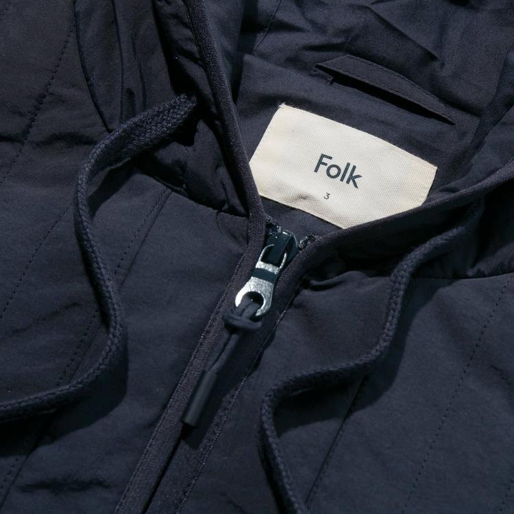 Folk Wadded Junction Hooded Jacket