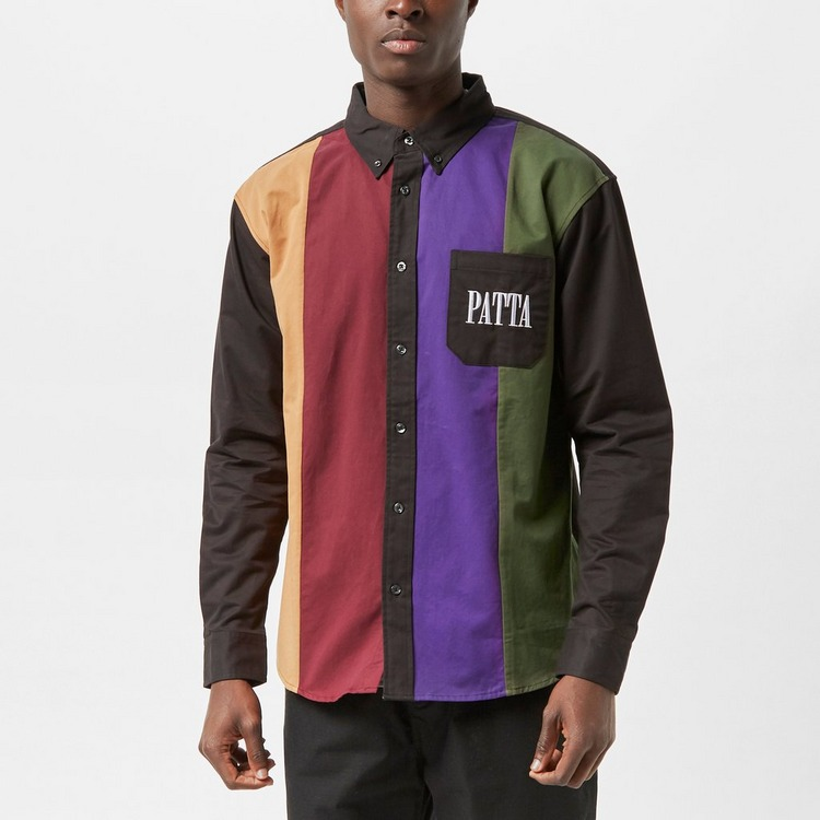 Patta Panelled Relaxed Button Down Shirt