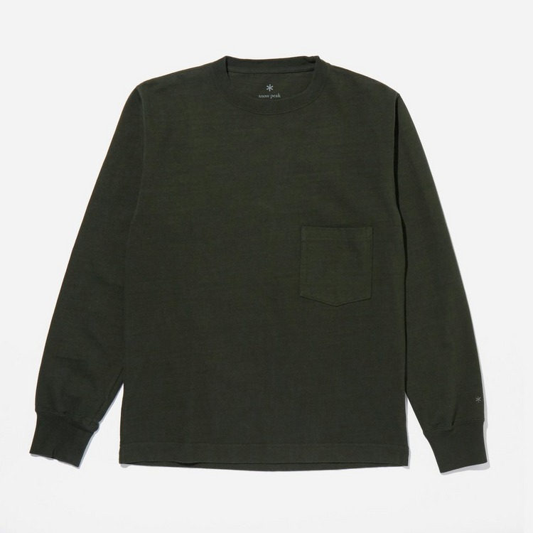 Snow Peak Heavy Garment Dyed Long Sleeve Sweatshirt
