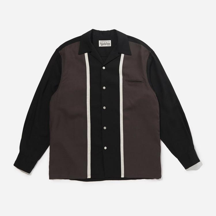 Wacko Maria Three Tone 50's Striped Longsleeve Shirt