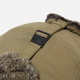 Snow Peak CO Typewriter Faux Shearling Nylon Trapper Cap