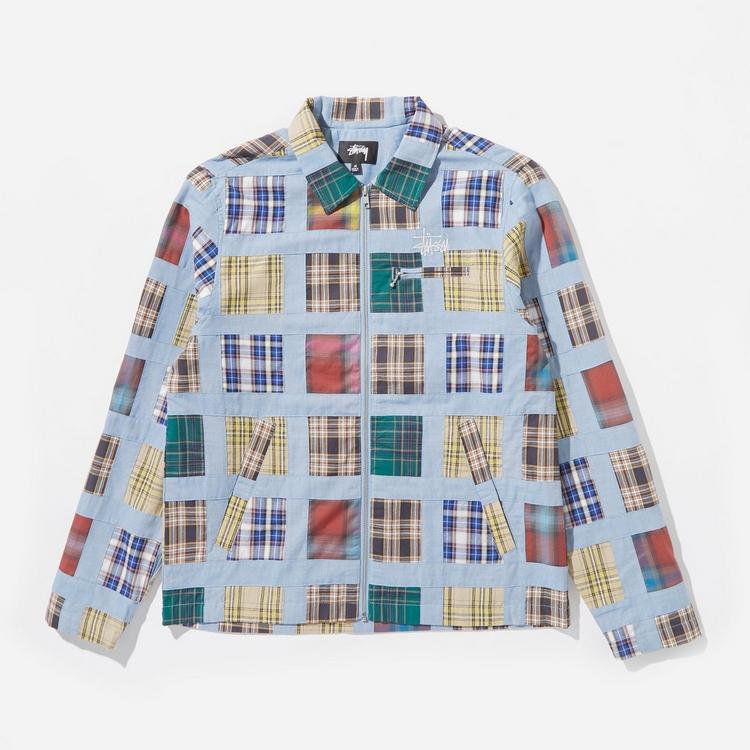 Stussy Madras Patchwork Zip Jacket