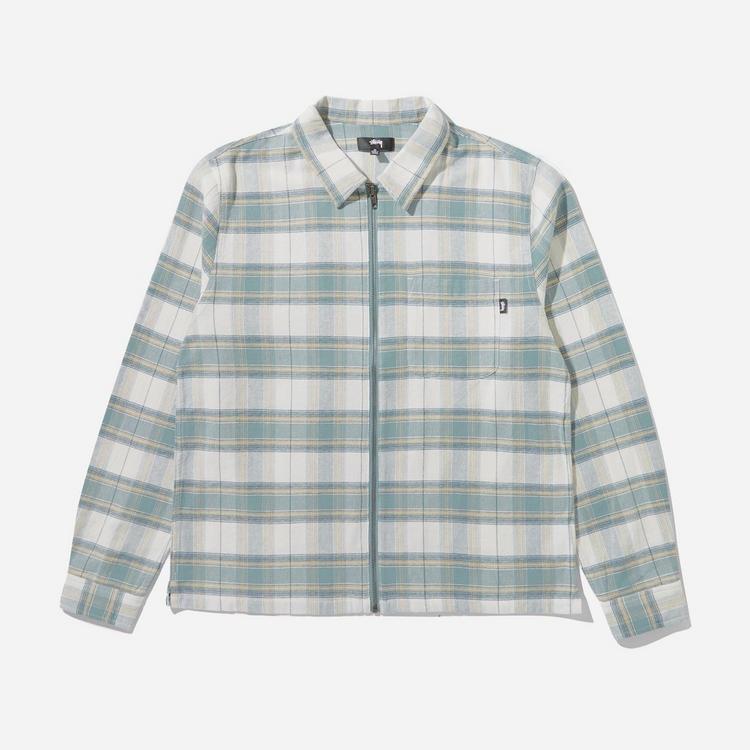 Stussy Heritage Plaid Long Sleeve Zip Shirt